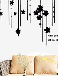 Wall Stickers Wall Decals Flower Curtain Decorative Sticker