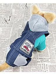 katten / honden Jassen / Broeken / Jeans Blauw / Geel Winter Jeans