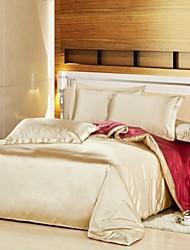funda nórdica conjunto, burdeos& seda beige colores mezclados hotel de 4 unidades de doble tamaño completo reina
