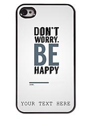 cas de téléphone personnalisé - ne vous inquiétez pas la conception boîtier métallique pour iPhone 4 / 4S