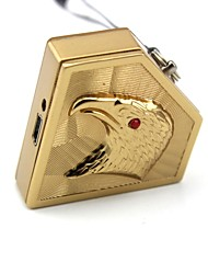 Personalized Engraving Eagle Gold Metal Electronic Lighter