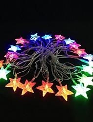 5m 4.8W kerst flash 20-led rgb licht strip licht lamp (eu stekker, ac 110-220v)