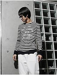 bande lettre à manches longues agrémentée t-shirt blanc