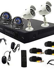 twvision® 4 canali one-touch sistema on line cctv dvr (registrazione d1 4 canali, fotocamera con Sony CCD)