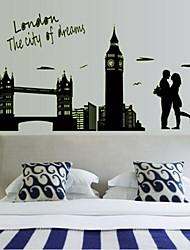 parete adesivi decalcomanie della parete romanzo di London Bridge adesivo luminoso decorativo