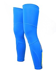 OUTTO Men's Breathable Polyester and Spandex Blue Cycling Leg Warmer Sleeves