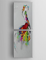 Hand-Painted AbstractModern Traditional Two Panels Canvas Oil Painting For Home Decoration