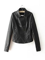 casacos de pele casaco fashion de manga longa casaco de pele falso (mais cores)