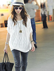 Wave Pattern Out-Off-Shoulder T-shirt
