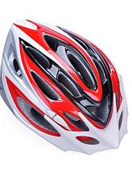 moda unisex y de alta transpirabilidad pc + epp casco de bicicleta con visera desmontable (20 salidas) - + plata rojo