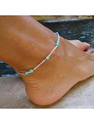 Elegantní dámské perličkový šarm kovový řetěz šperku náramek nohy sandál pláž šperky