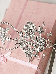 Long Flexible Multi Shape Diamond Crown Bride Headpieces
