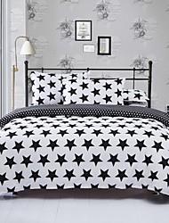 / White Star juego de cama negro de 4pcs para el uso de la cuarta temporada