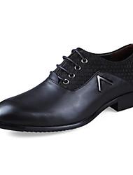 Hombre-Tacón Plano-ConfortCasual-Cuero-Negro / Marrón / Bronceado