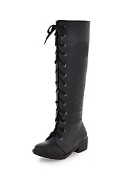 Women's Shoes Fashion Boots Low Heel Knee High Boots with Lace-up More Colors available