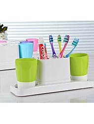 Creative Toothbrush Holder with 2PCS Washing Cups Set