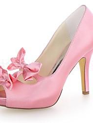 Women's Wedding Shoes Heels/Peep Toe/Platform Heels Wedding Black/Blue/Yellow/Pink/Purple/Red/Ivory/White/Silver/Champagne