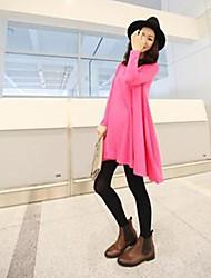 style coréen robe décontractée tout match rose