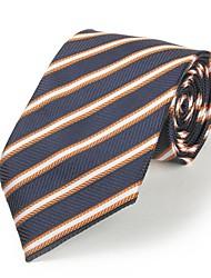 l'argent des hommes rayé bleu microfibre noir cravate cravate pour le mariage cadeau de vacances du parti