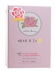 rosa 10pcs máscara hialurónico