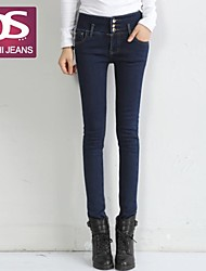 Women's Blue/Black Skinny/Jeans Pants , Vintage/Sexy