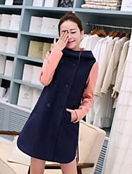 moda cor fino casaco de correspondência das mulheres