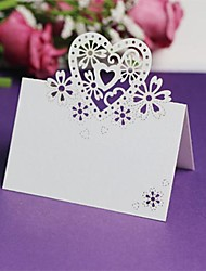 12pcs Heart Laser Cut Out Name Place Card Wedding Party Birthday Christmas Decorations Table Centrepieces(More Colors)