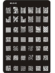 nouveaux designs nail art estampage plaque d'image clou modèle d'art ongle pochoir n ° 2
