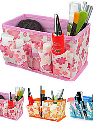 vouwen quadrate cosmetica opslag stand doos make-up borstel pot cosmetische organisator (3 kleuren te kiezen)