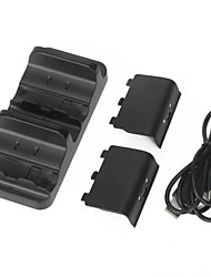 Dual Charger Dock Station + 2 Battery for Microsoft Xbox One Wireless Controller
