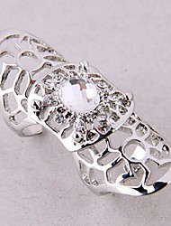 Women's Unisex's Fashionable Exaggerated Hollow Diamond Alloy Ring