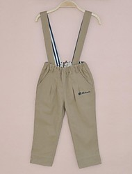 Hallyu Autumn and Winter Boy and Girl Suspender Trousers Which can be removable,Pure Cotton Casual Pants