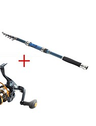 Telespin Rod / Fishing Rod + Reel / Fishing Rod Telespin Rod Carbon 237 M Sea Fishing Rod & Reel Combos Dark Blue