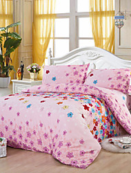 Mingjie Pink Flowers Bedding Sets 4pcs Duvet Cover Sets Bed Linen China Queen Size and Full Size