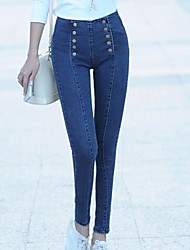 Women's Blue Denim Pant , Casual