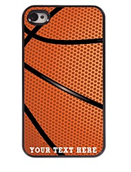 Personalized Phone Case - Basketball Design Metal Case for iPhone 4/4S