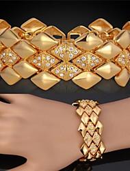 luxo topgold grande robusto ouro 18k pulseira de platina revestida swa cristal strass jóias de alta qualidade