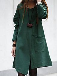 manches longues robe asymétrique des femmes yuwinne