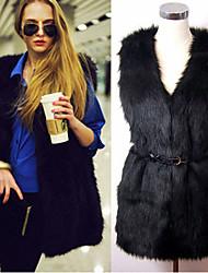 Elegant Faux Fur Waistcoat