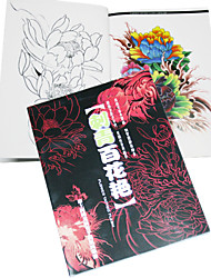 Brilliant Flowers Tattoo Pattern Book