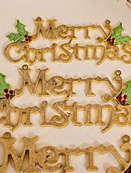 Weihnachtsverzierungen Platte mit merry christmas Zeichen, Kunststoff