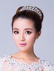 Elegant Silver Plated Alloy Rhinestone Wedding Tiara
