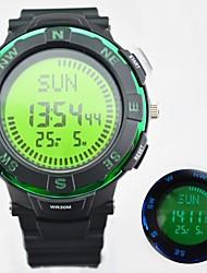 LCD multifunzione elettronico bussola degli uomini orologi orologi militari sportivi digitali di moda (colori assortiti)