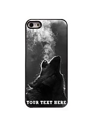 Personalized Phone Case - The Wolf Blowing Smoke Design Metal Case for iPhone 5/5S