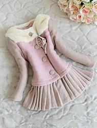 meninas outwear roupas de lã casaco de inverno