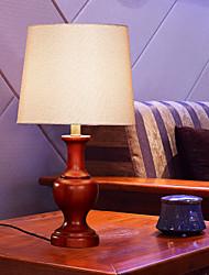 candeeiro de mesa de luxo de estilo de madeira