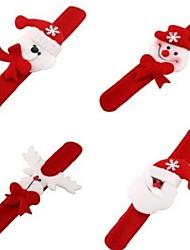 4pcs Weihnachtsdekor niedlich Slap Armband