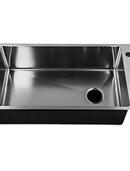 L30.3 Inch Single Bowl 304 Stainless Steel Kitchen Sink