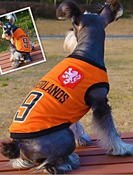 Fashionable Netherlands Football Team Pattern Vest for Pet Dogs(Assorted Sizes)