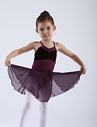 Kids' Dancewear Skirts Children's Training Chiffon 1 PieceBlack / Light Blue / Pink / Dark Blue / Red / Burgundy / Lilac / Purple / Lake